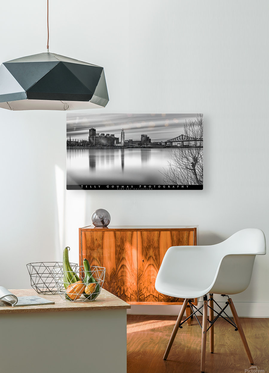 Long Exposure MTL  HD Metal print with Floating Frame on Back
