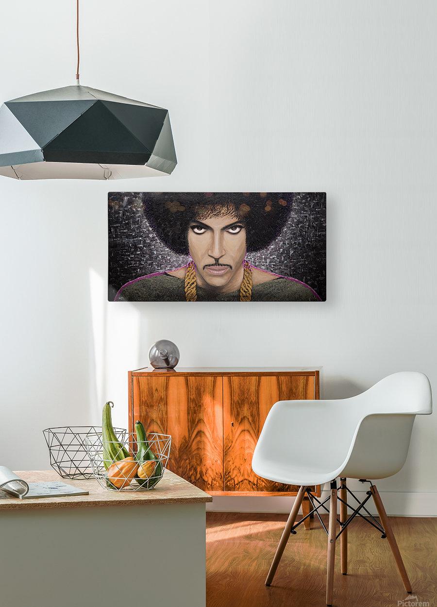 Purple Transcendence  HD Metal print with Floating Frame on Back