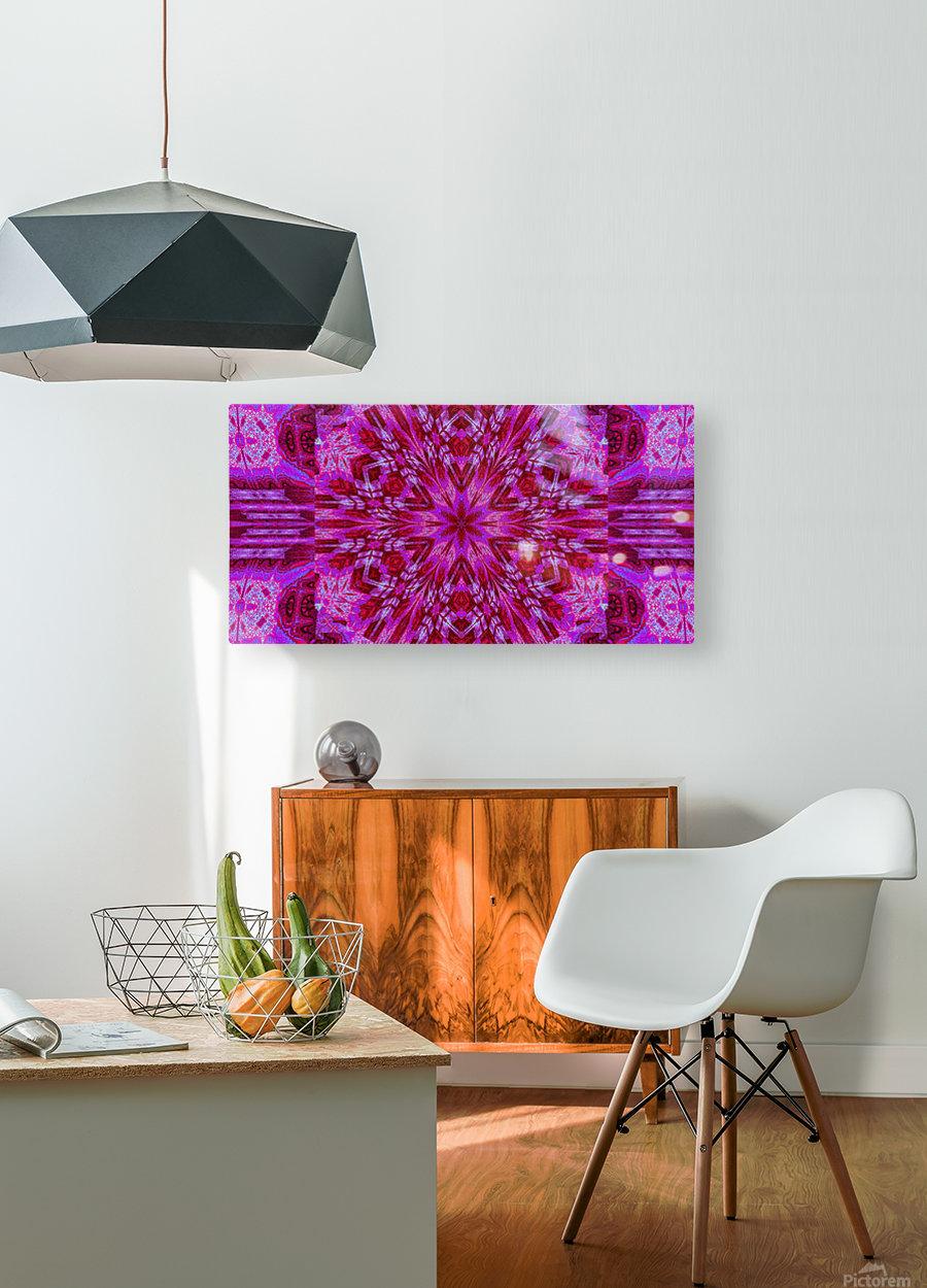 Wildflower in Pink Bloom  HD Metal print with Floating Frame on Back