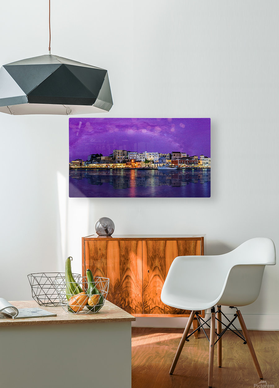 Chania Pano 2  HD Metal print with Floating Frame on Back