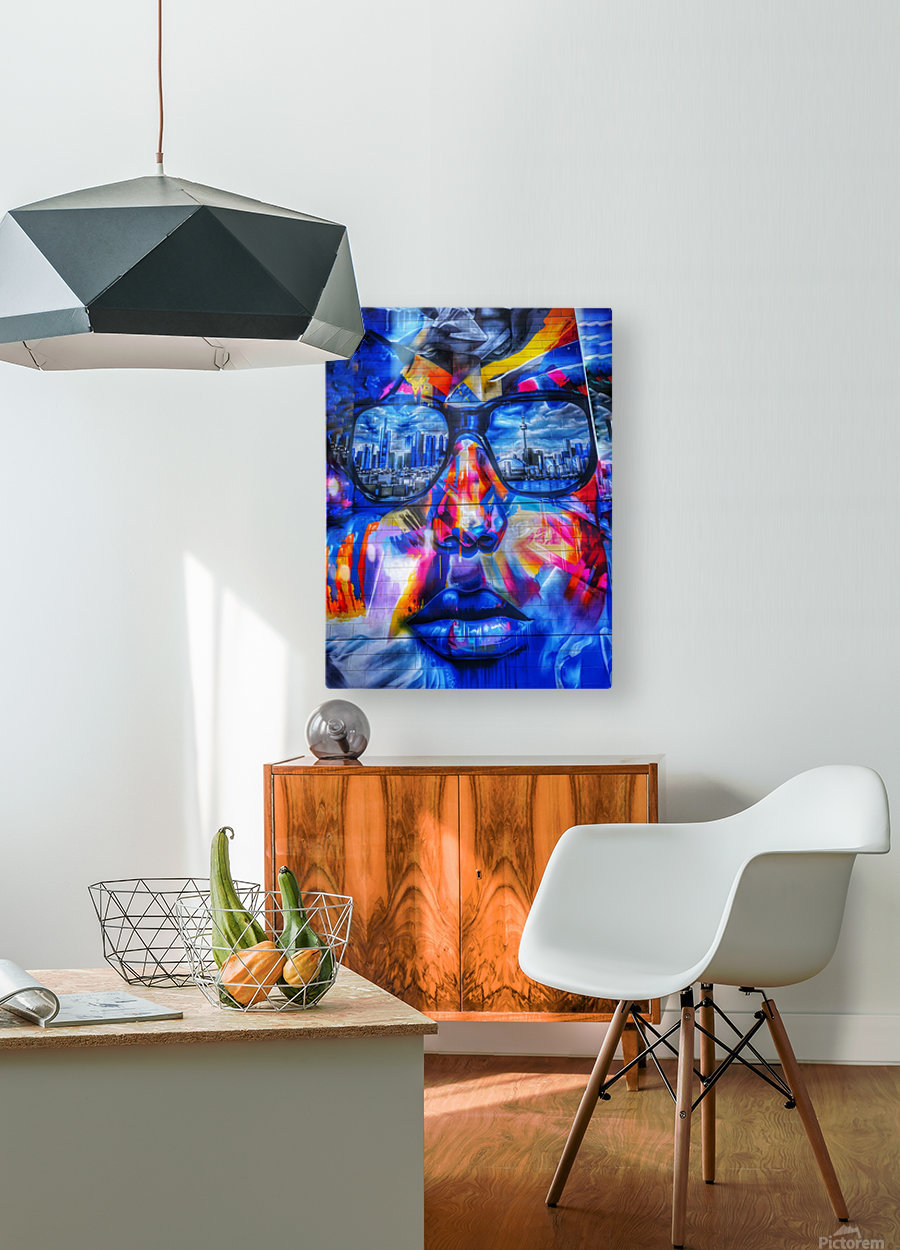 Graffiti Face - Toronto  HD Metal print with Floating Frame on Back