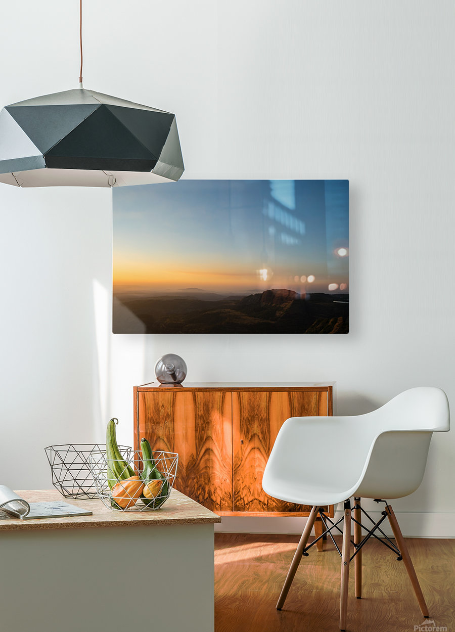 Calming Sunset  HD Metal print with Floating Frame on Back
