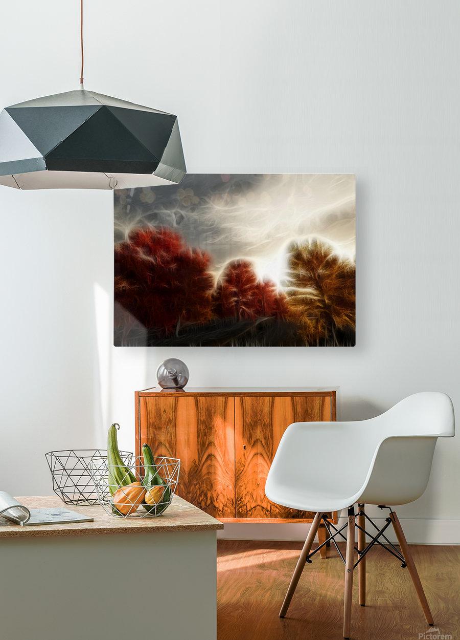 Impressionist Autumn Scene  HD Metal print with Floating Frame on Back