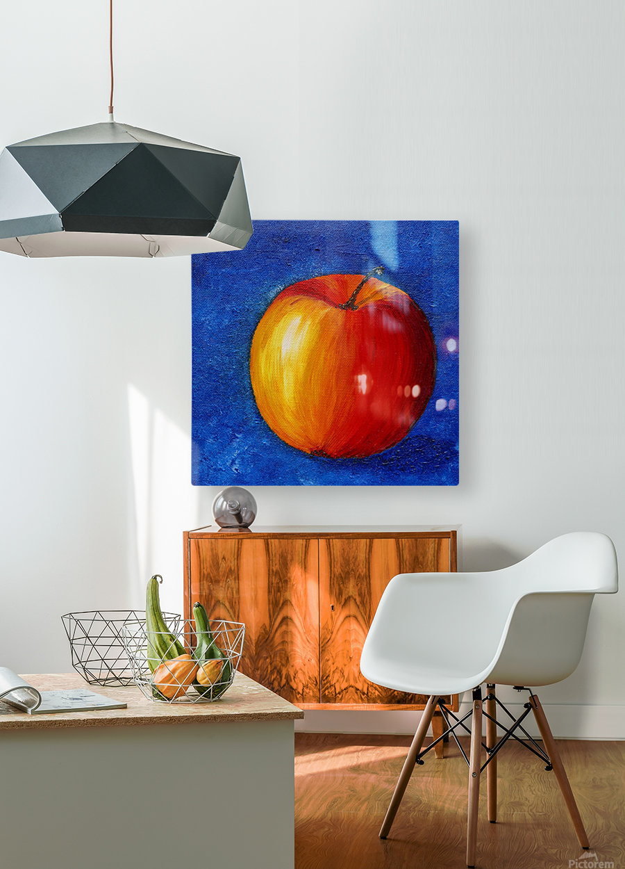 Red Apple - Still Life Painting  HD Metal print with Floating Frame on Back