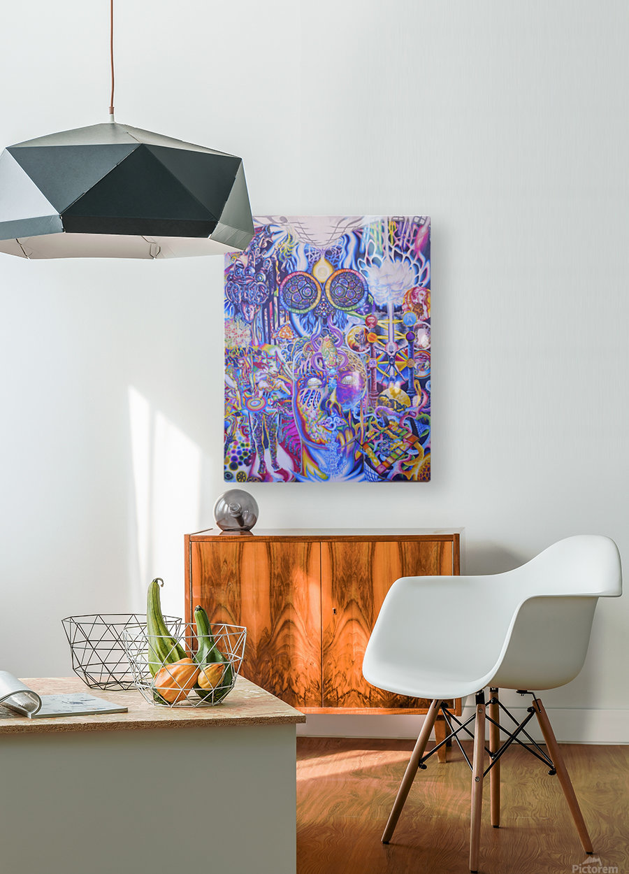 Peak Experience  HD Metal print with Floating Frame on Back