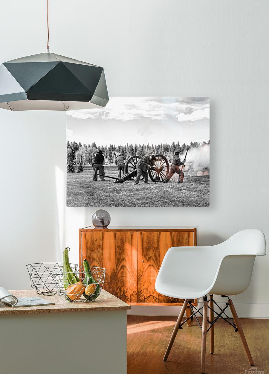 Civil War Re-enactment  HD Metal print with Floating Frame on Back