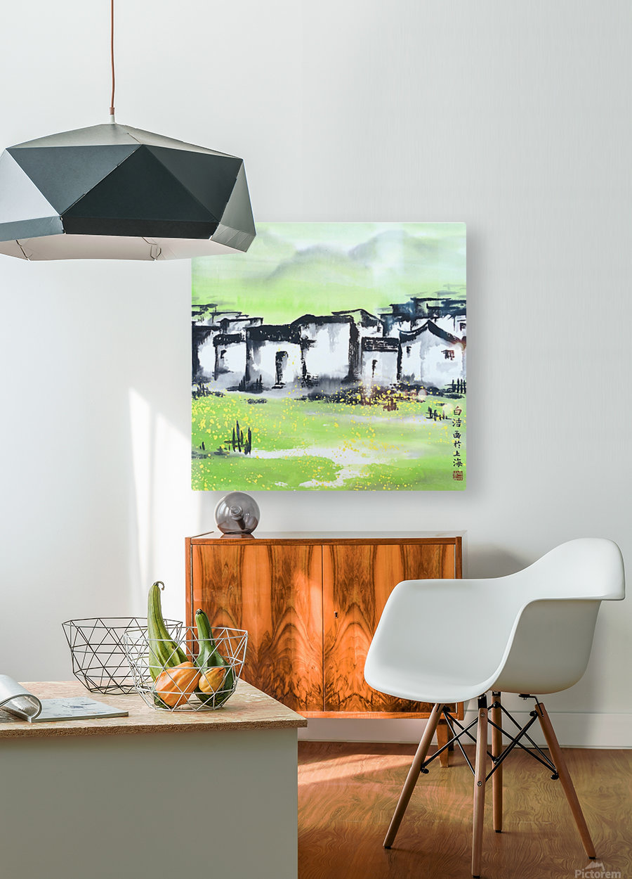 Zhongguo Cun - Chinese Village  HD Metal print with Floating Frame on Back