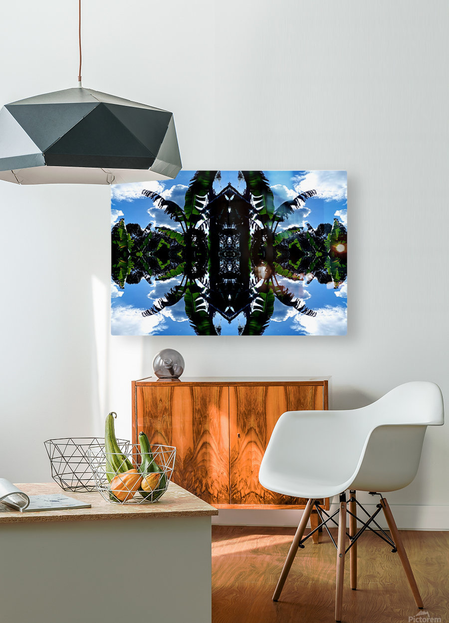 natural 3  HD Metal print with Floating Frame on Back