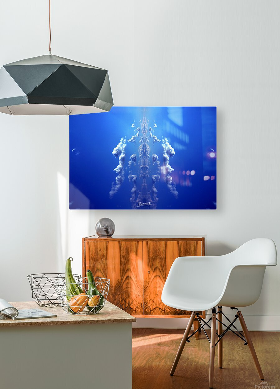 blue 1  HD Metal print with Floating Frame on Back