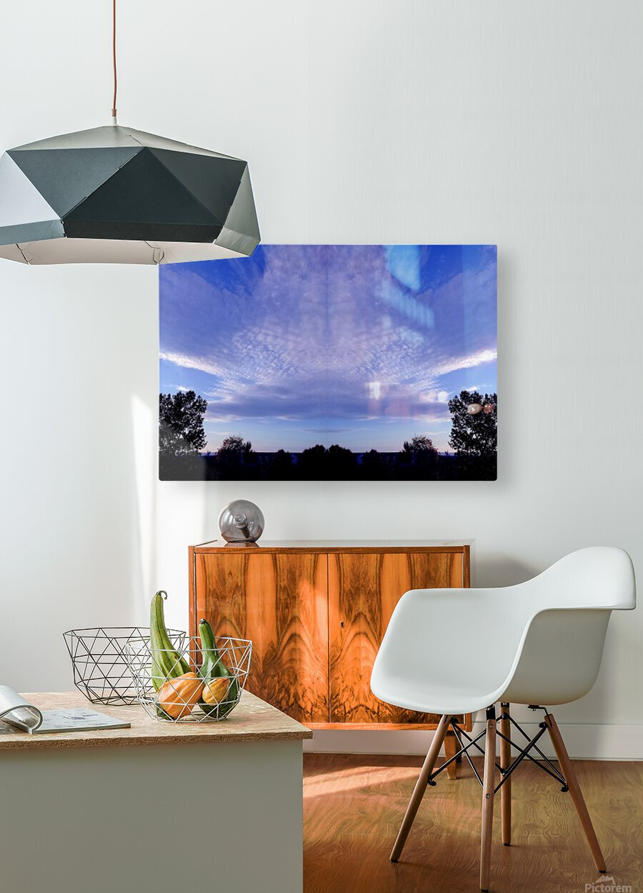 nube 44  HD Metal print with Floating Frame on Back