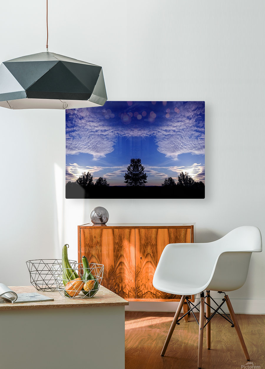 nube 45  HD Metal print with Floating Frame on Back