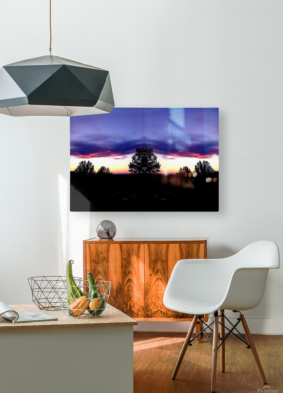 nube 48  HD Metal print with Floating Frame on Back