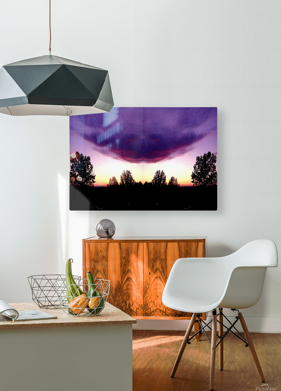 nube 50  HD Metal print with Floating Frame on Back