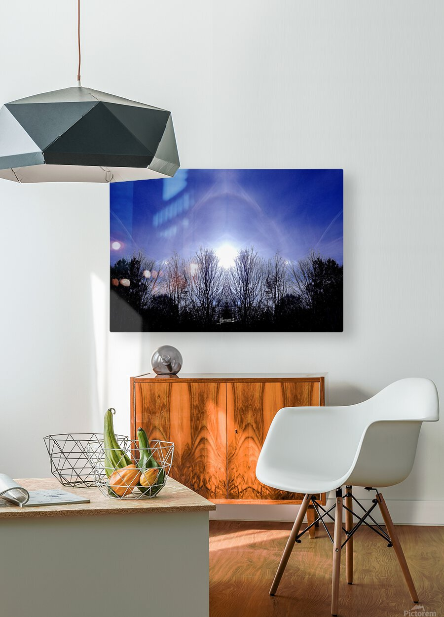nube 55  HD Metal print with Floating Frame on Back