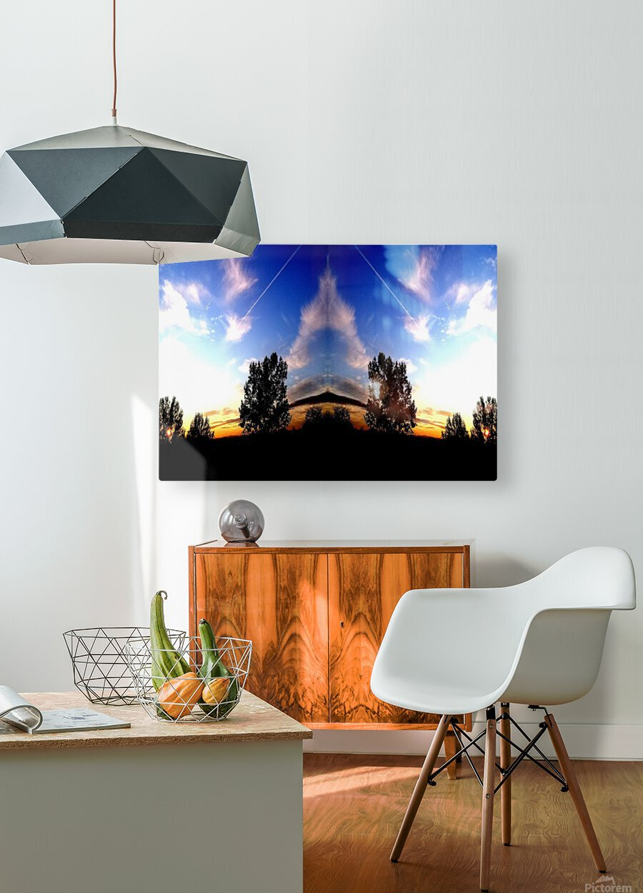 nube 59  HD Metal print with Floating Frame on Back