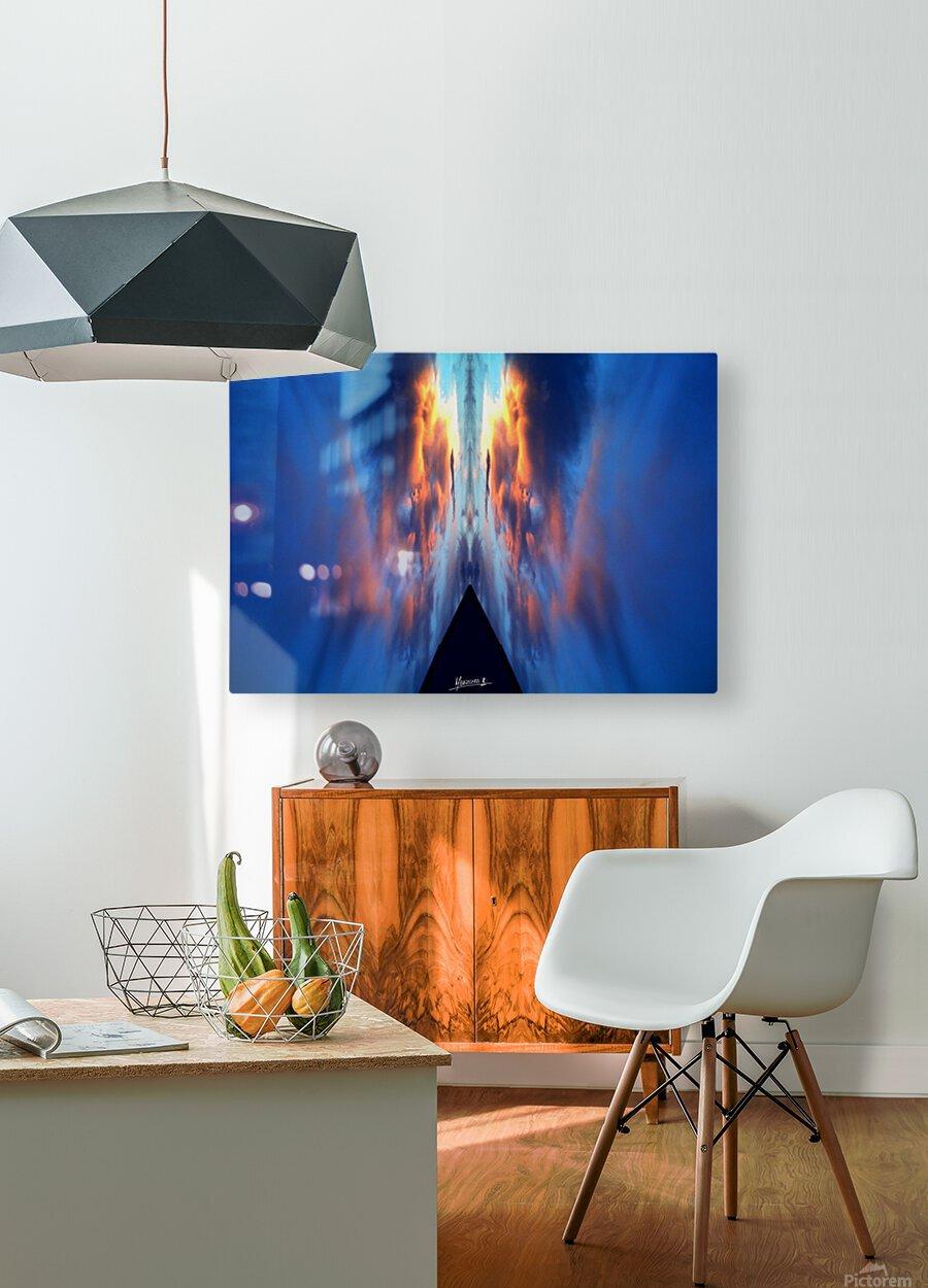 Skipe 5.  HD Metal print with Floating Frame on Back