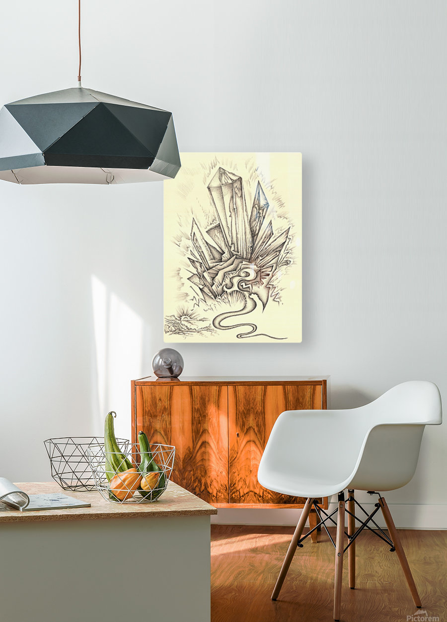 Crystal  HD Metal print with Floating Frame on Back