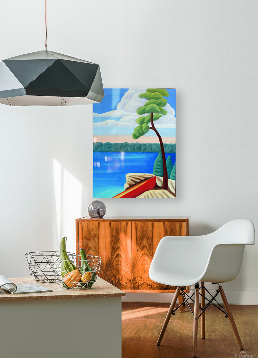 Georgian Bay Shores  HD Metal print with Floating Frame on Back