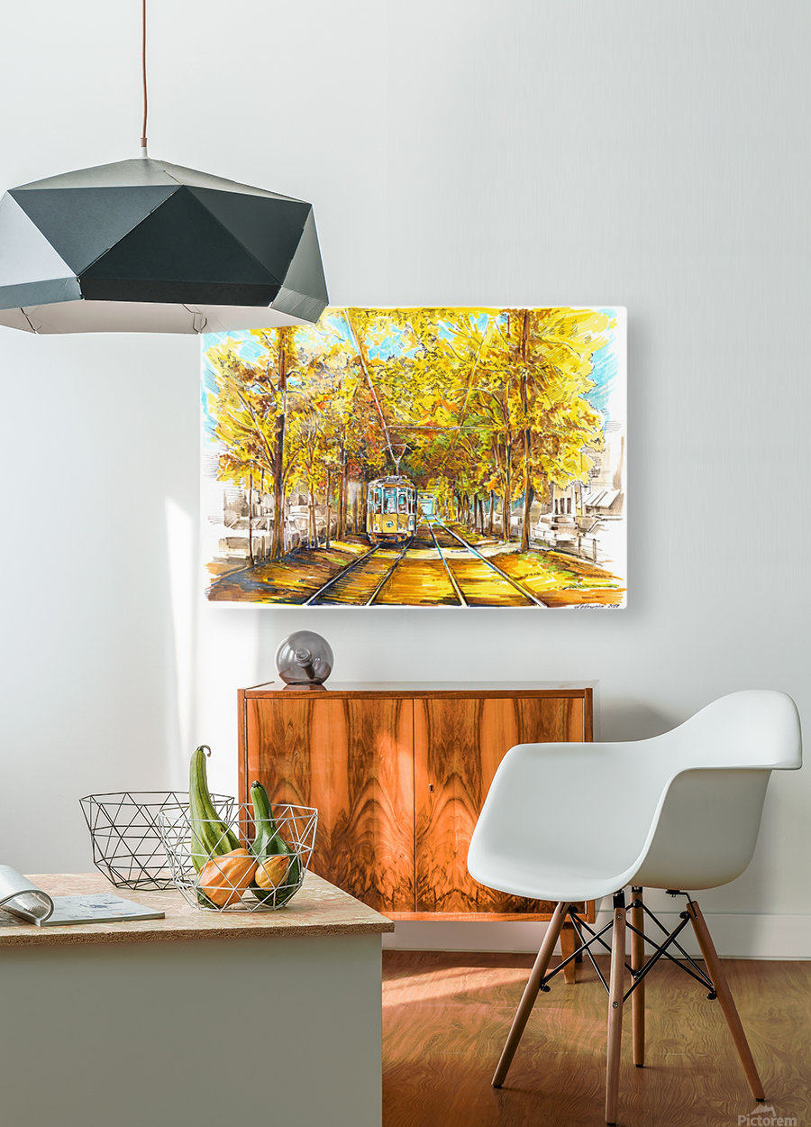 Autumn_Blues  HD Metal print with Floating Frame on Back