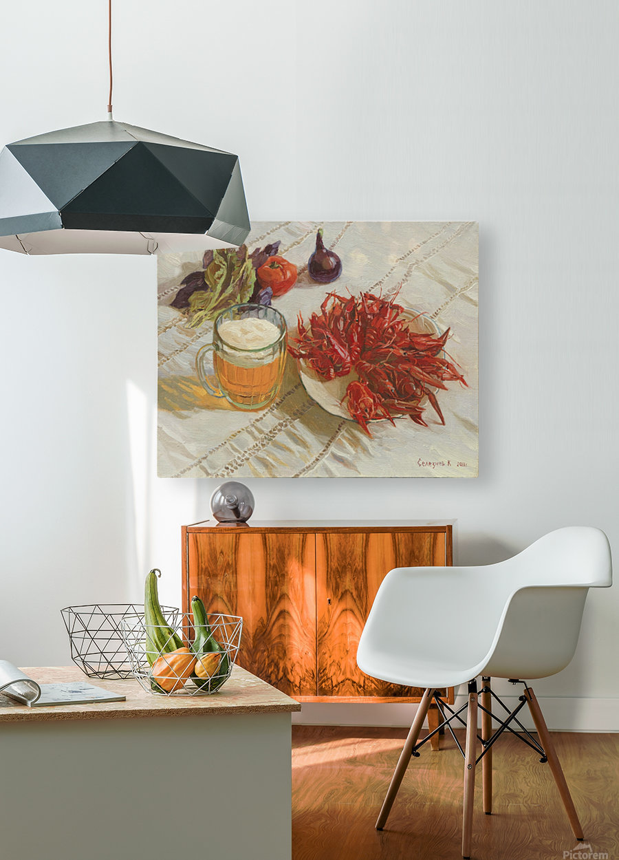Still_Life_With_Crawfish  HD Metal print with Floating Frame on Back