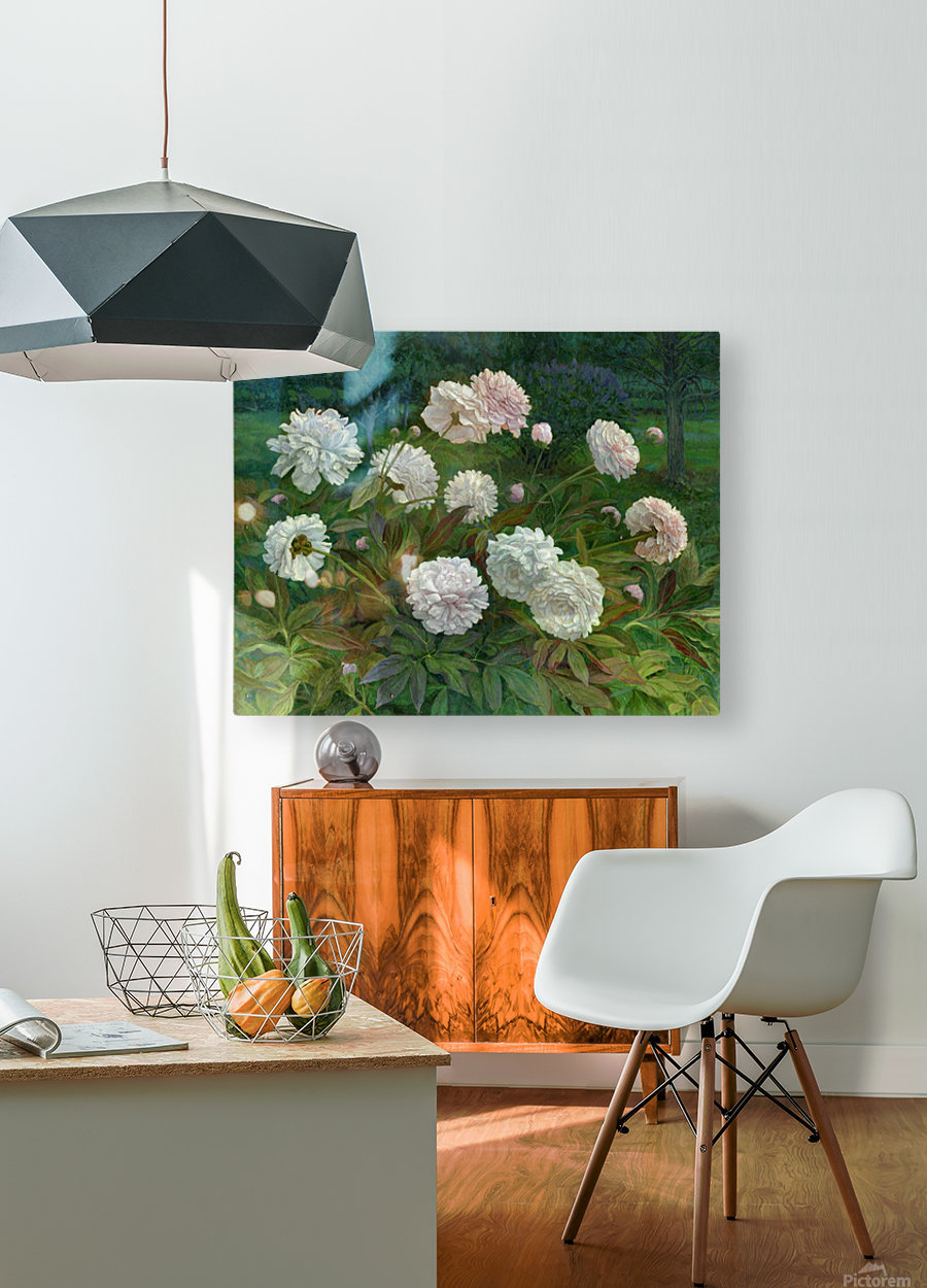 Peonies  HD Metal print with Floating Frame on Back
