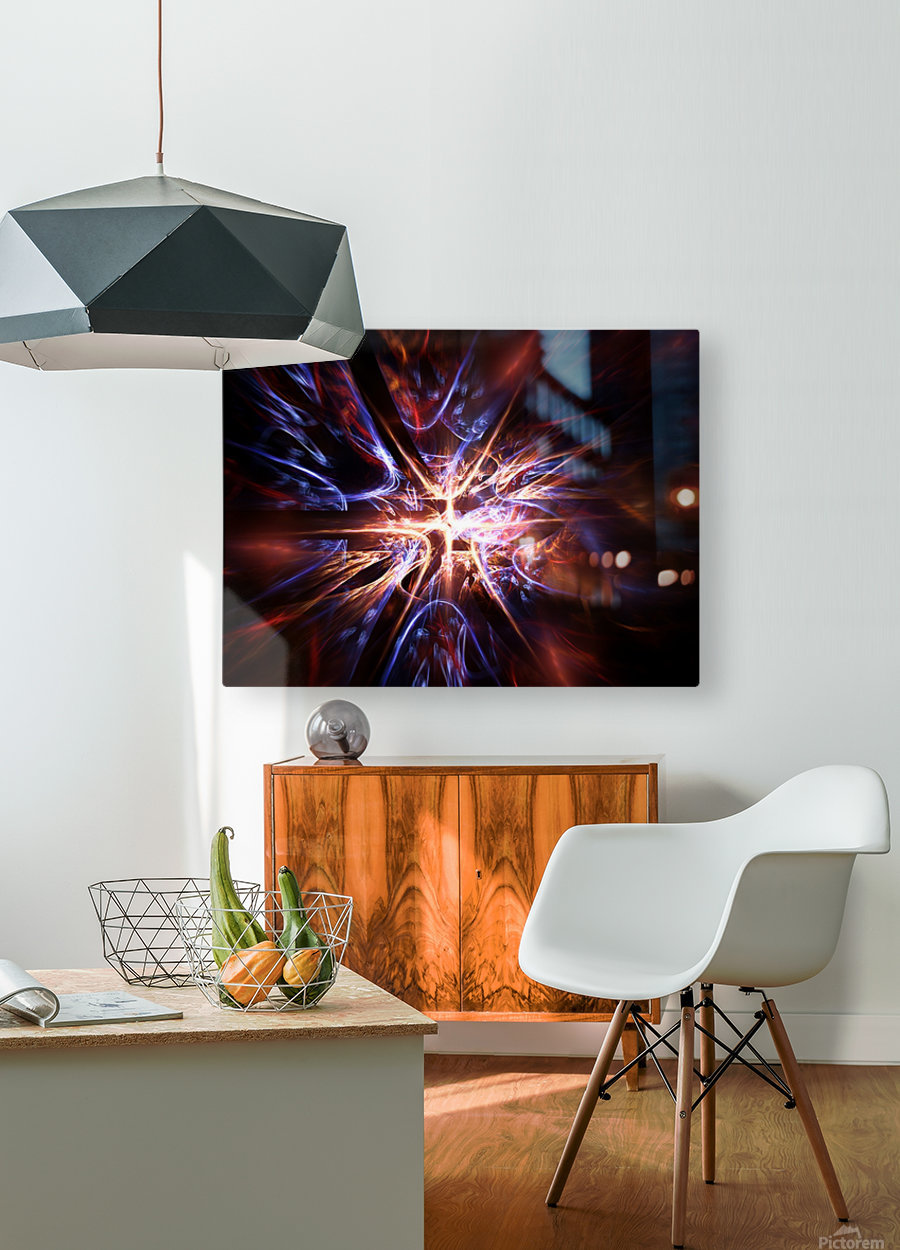 Syndrome  HD Metal print with Floating Frame on Back