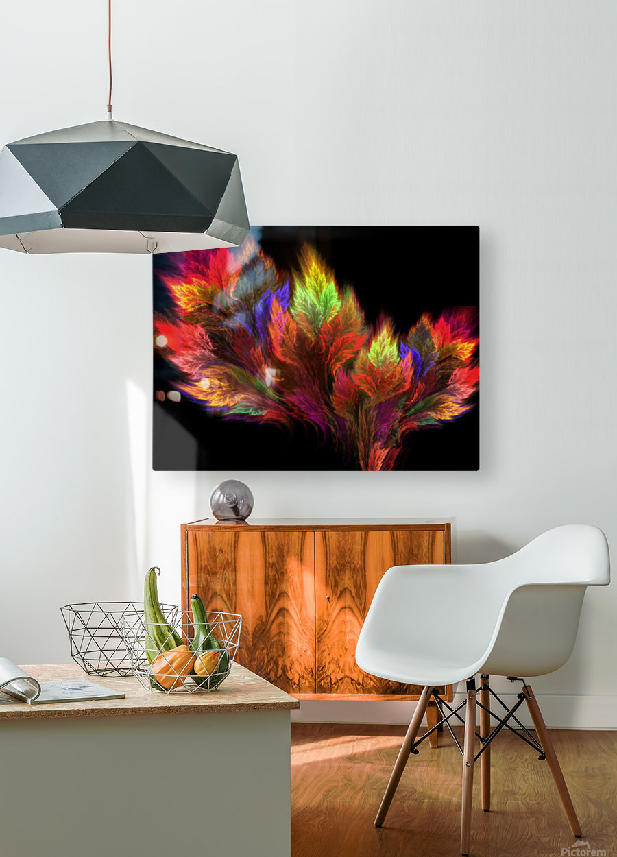 A visit in the paradise  HD Metal print with Floating Frame on Back