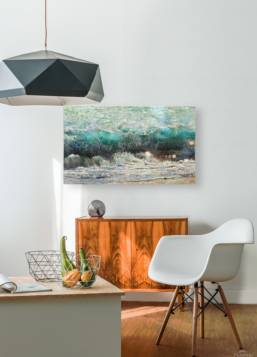 The_Wave  HD Metal print with Floating Frame on Back
