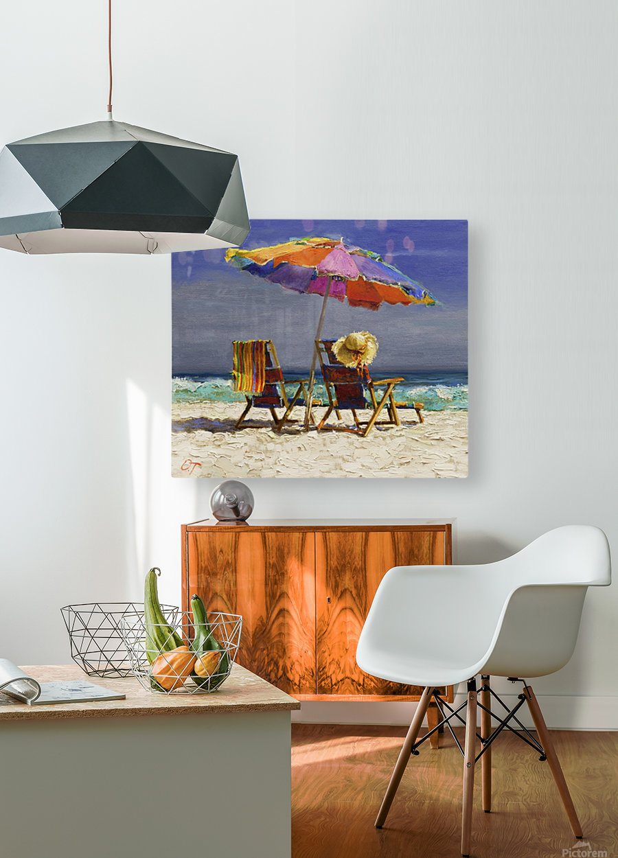 Umbrella  HD Metal print with Floating Frame on Back