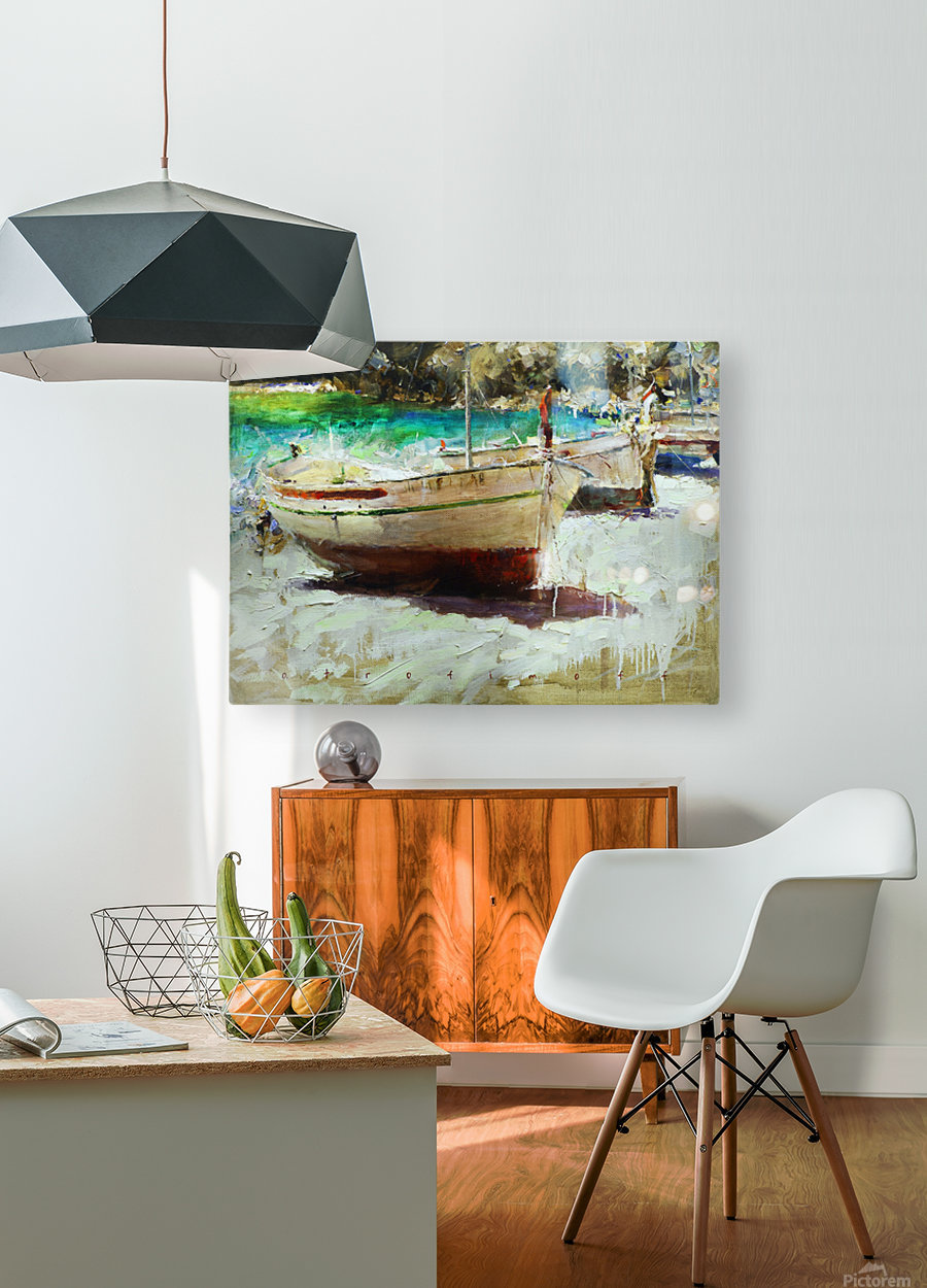Panorama1  HD Metal print with Floating Frame on Back