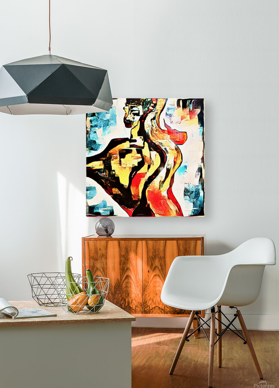 FraGmenTs C  HD Metal print with Floating Frame on Back