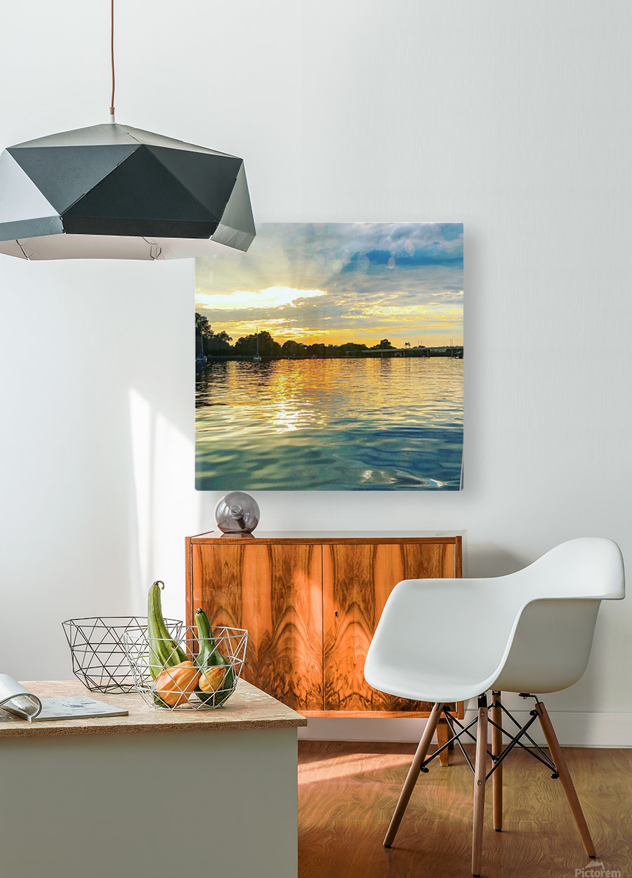 Washington Channel Sunset  HD Metal print with Floating Frame on Back