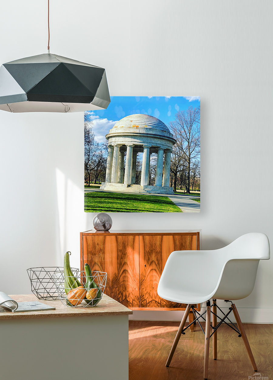 DC War Memorial  HD Metal print with Floating Frame on Back