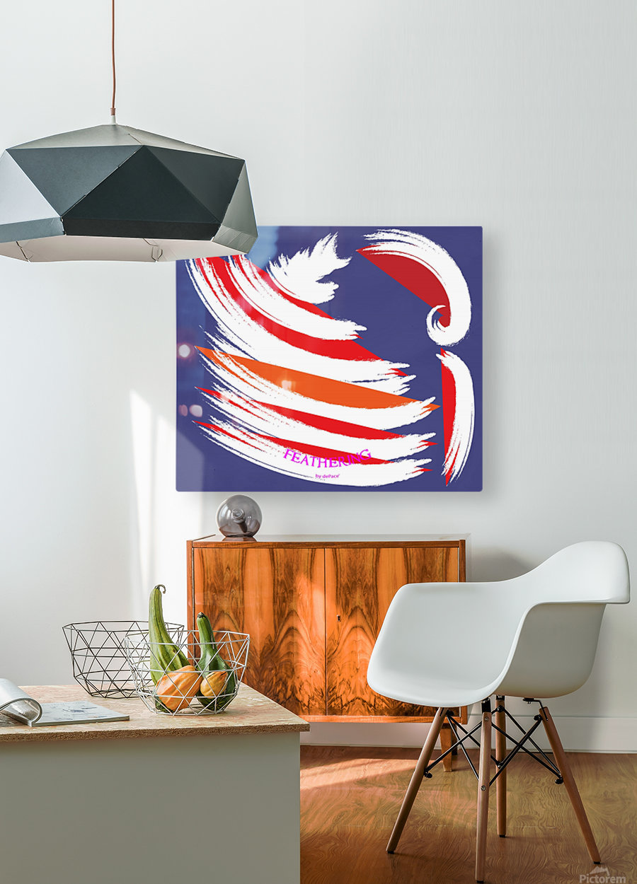 FEATHERING BY DEPACE  HD Metal print with Floating Frame on Back