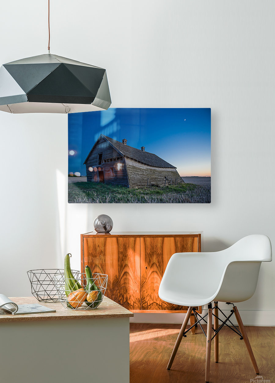 Leaning Barn  HD Metal print with Floating Frame on Back