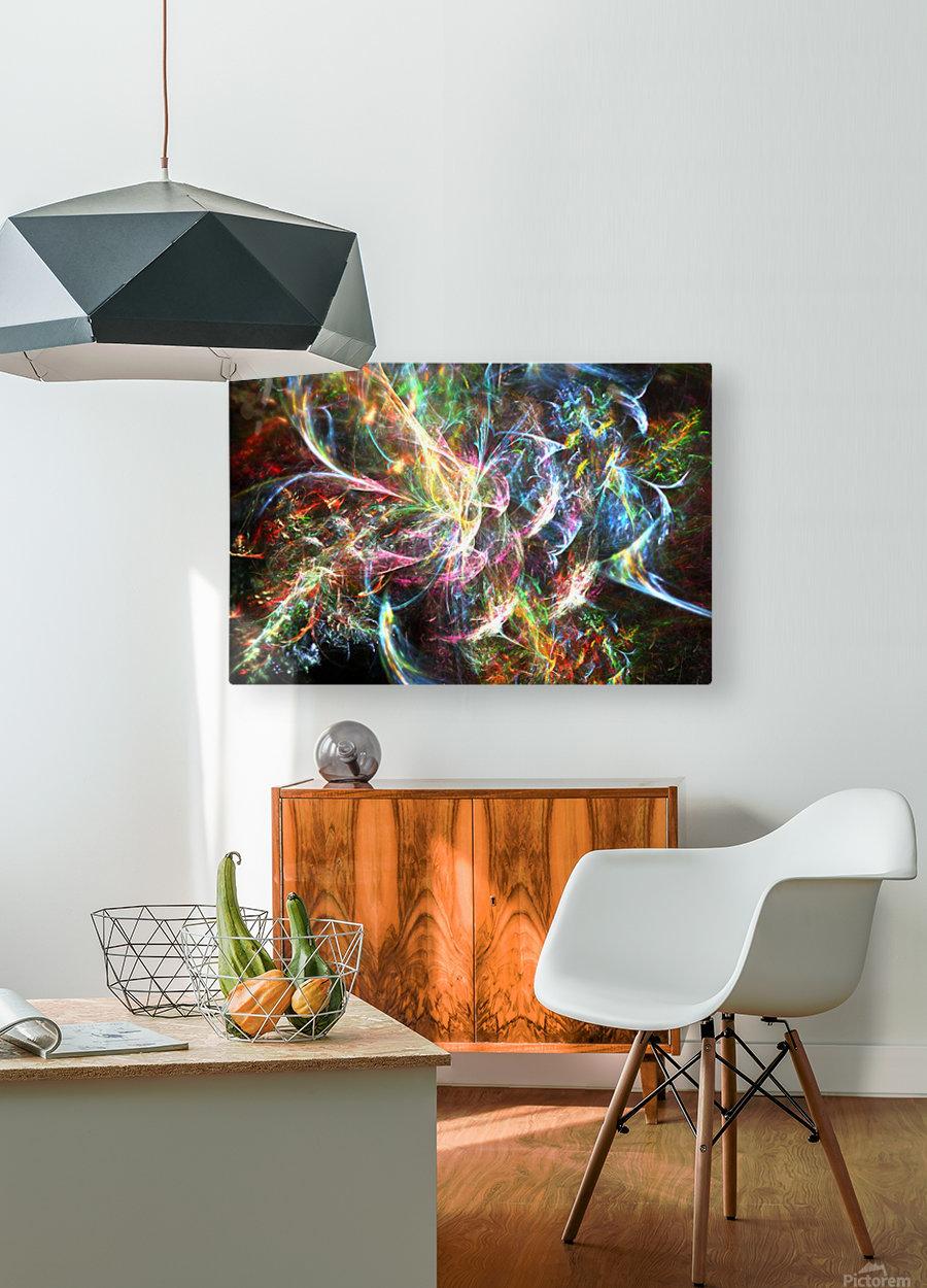 Dharma  HD Metal print with Floating Frame on Back