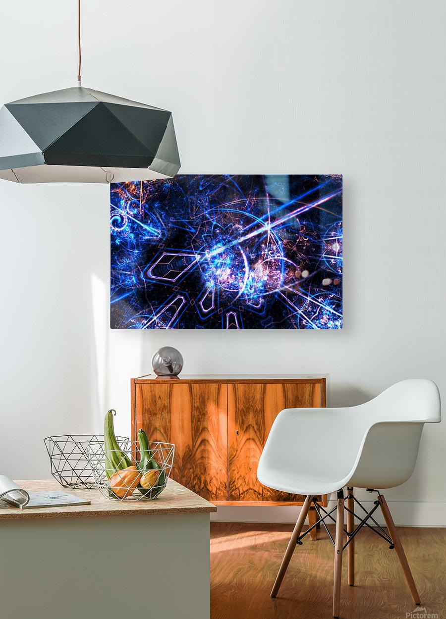 Time traveller  HD Metal print with Floating Frame on Back