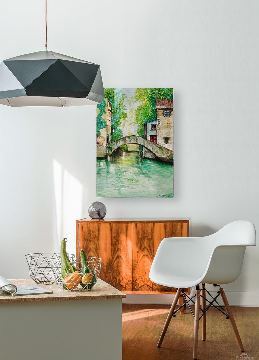 Lake City_DKS  HD Metal print with Floating Frame on Back
