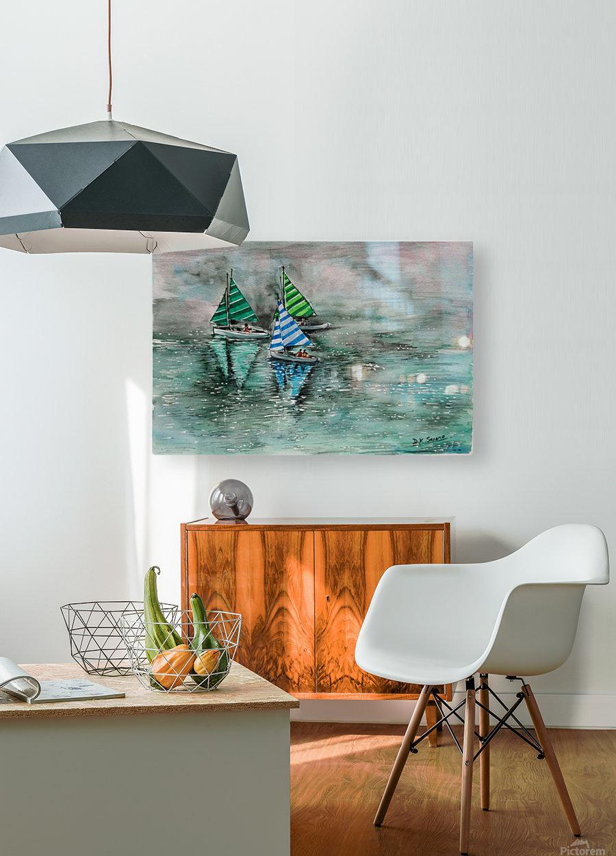 Naini lake_DKS  Impression métal HD avec cadre flottant sur le dos