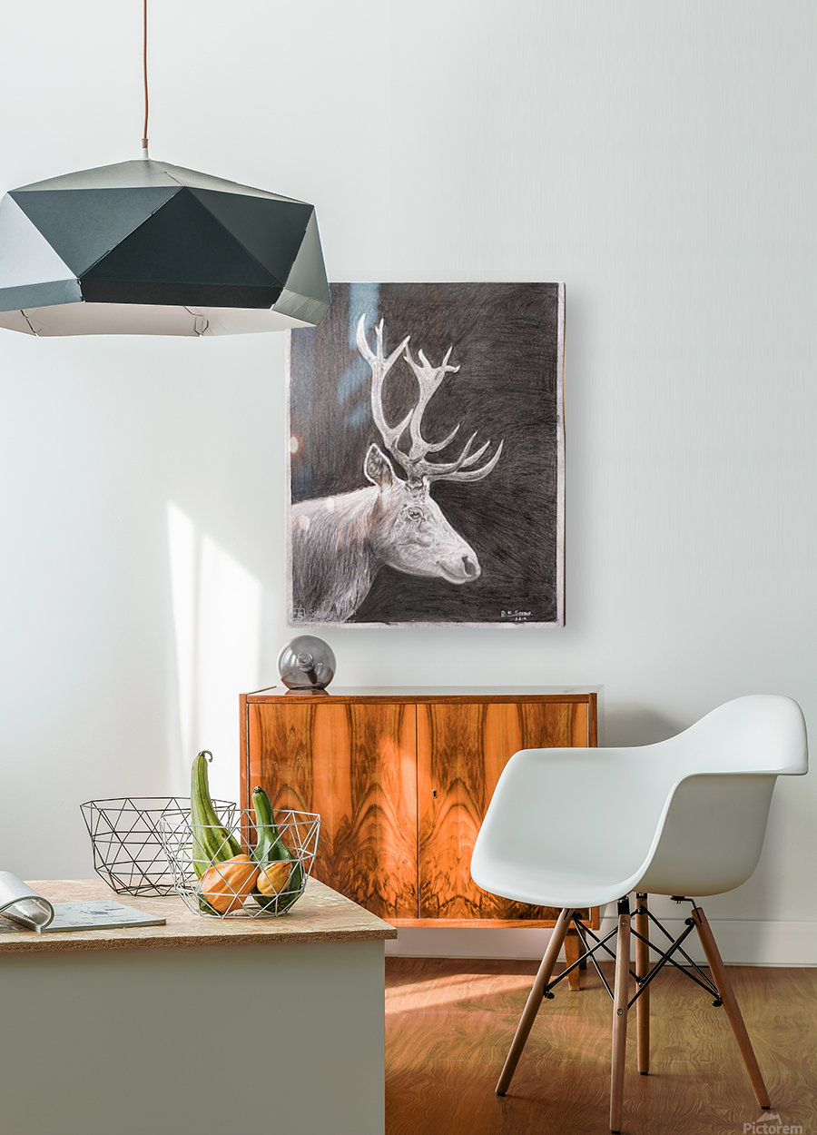 Stag_DKS  HD Metal print with Floating Frame on Back