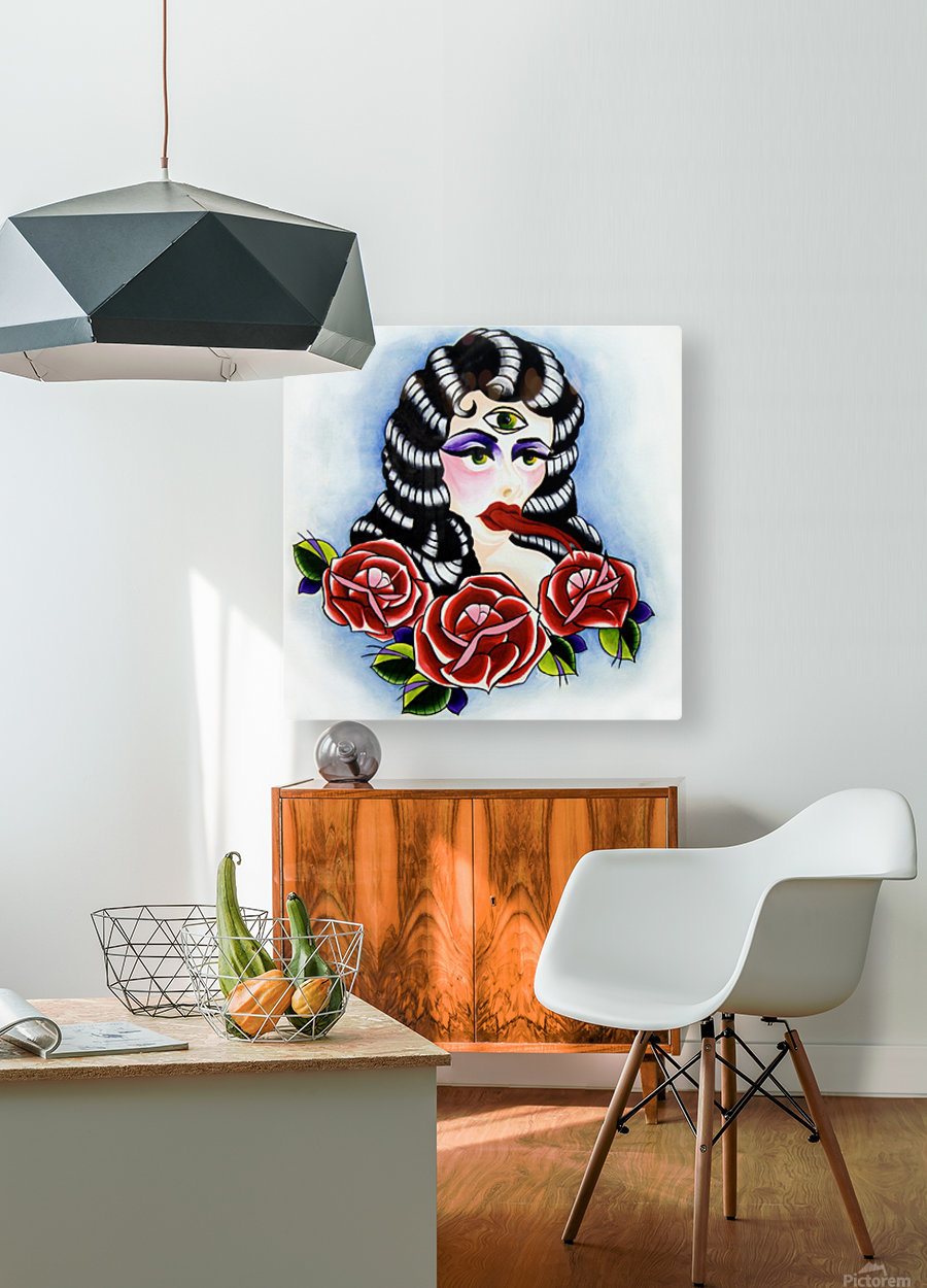 Whore  HD Metal print with Floating Frame on Back