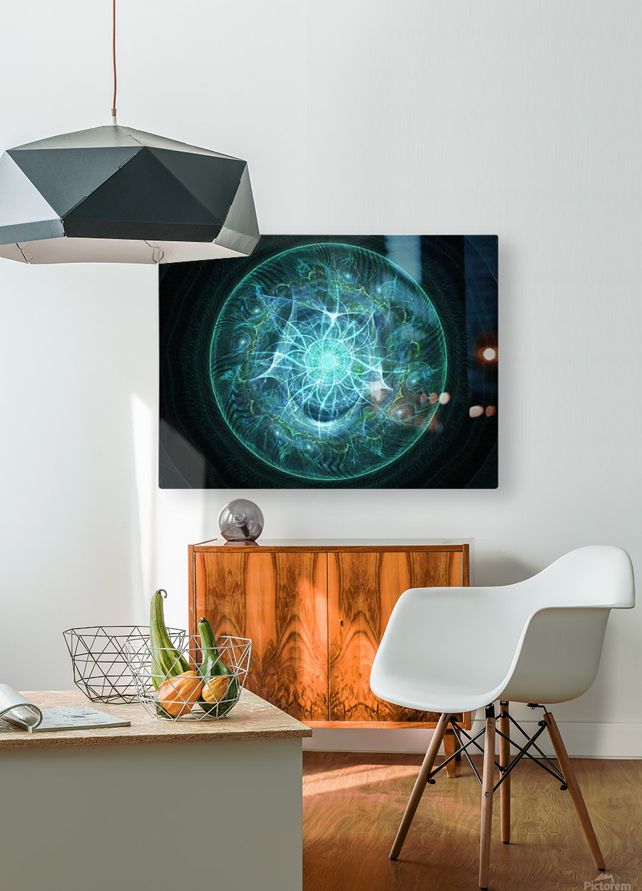 All seeing Eye  HD Metal print with Floating Frame on Back