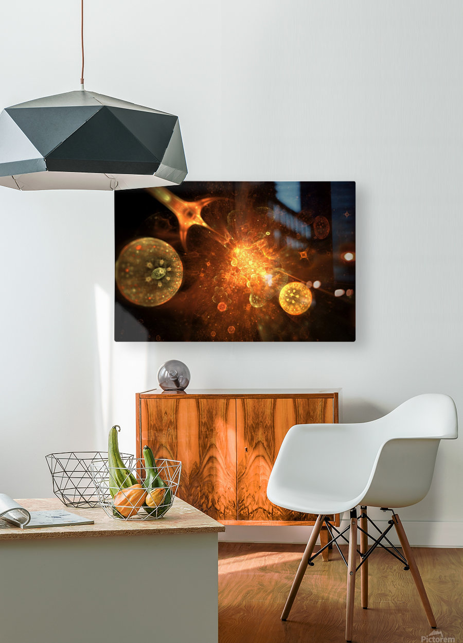 Ares  HD Metal print with Floating Frame on Back