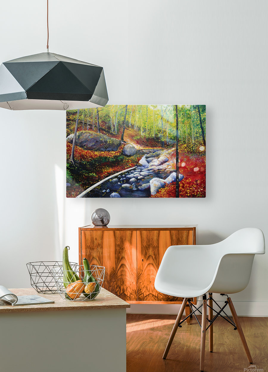 Fallen in Gatineu  HD Metal print with Floating Frame on Back