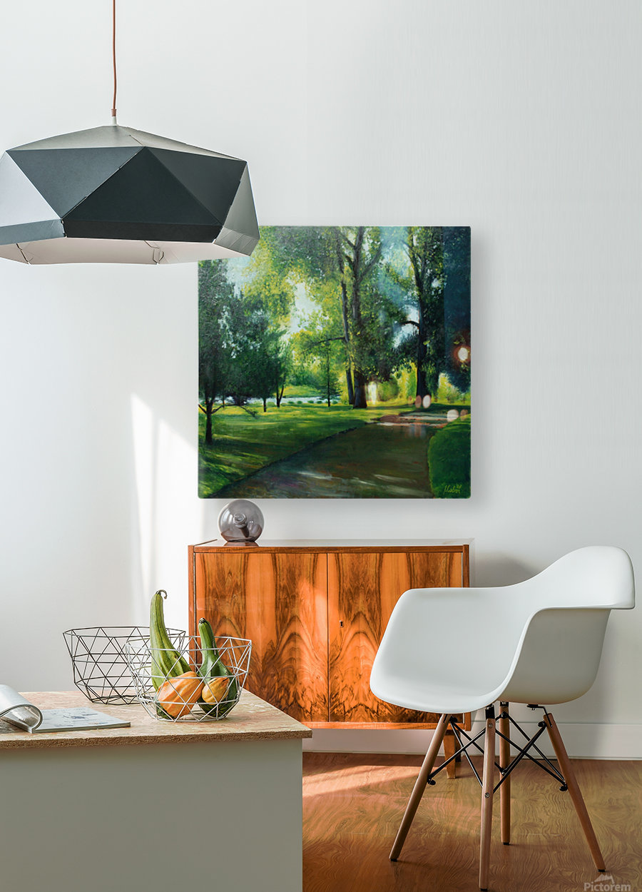 Arboretum at canal  HD Metal print with Floating Frame on Back