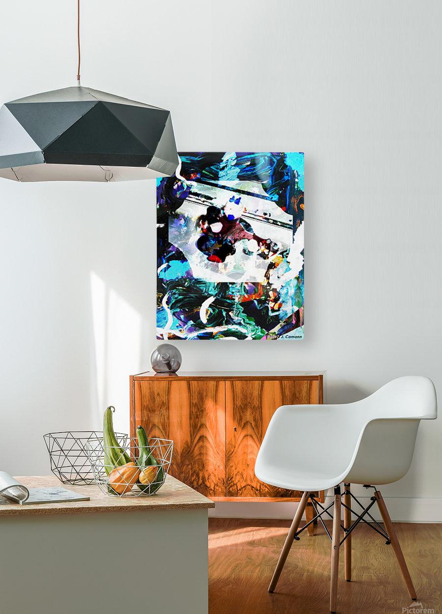 Strumming Patterns  HD Metal print with Floating Frame on Back