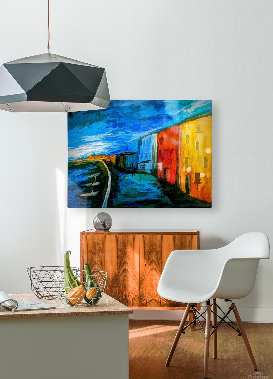 The Boardwalk v2  HD Metal print with Floating Frame on Back