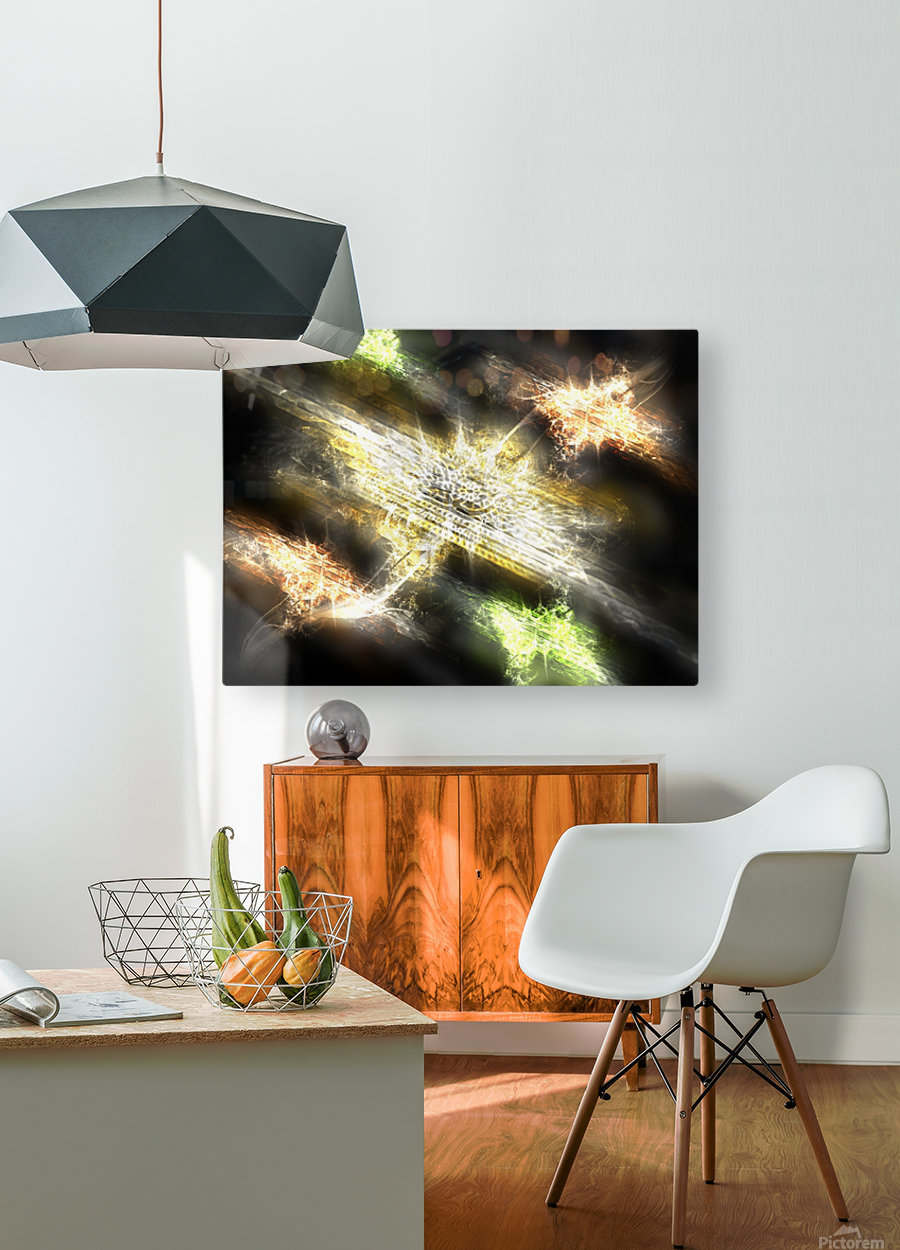 Path to nowhere  HD Metal print with Floating Frame on Back