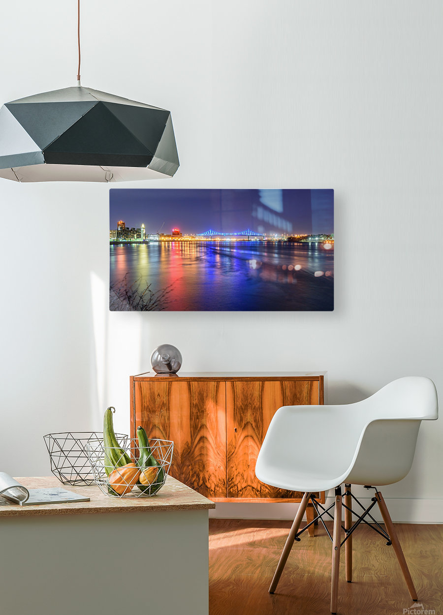 Montreal Canada  HD Metal print with Floating Frame on Back