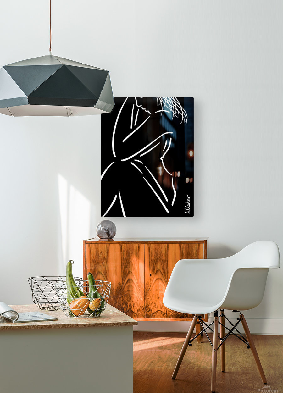Nude 16  HD Metal print with Floating Frame on Back